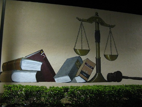 Graffiti - scales of justice
