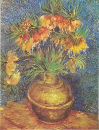 Painting Fritillaries in a Copper Vase - Van Gogh