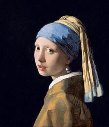 Portrait Girl with a Pear Earring - Vermeer
