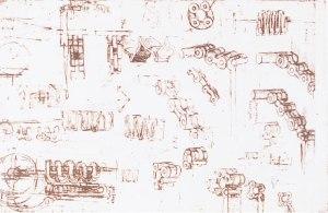 Leonardo sketch - roller chain