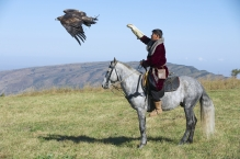 Mongolian eagle hunting req credit (Shutterstock)