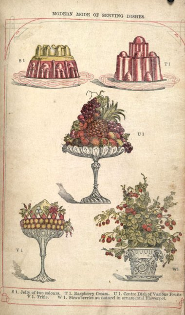 Mrs Beeton's serving puddings