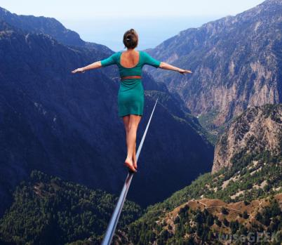 woman-tightrope-walking