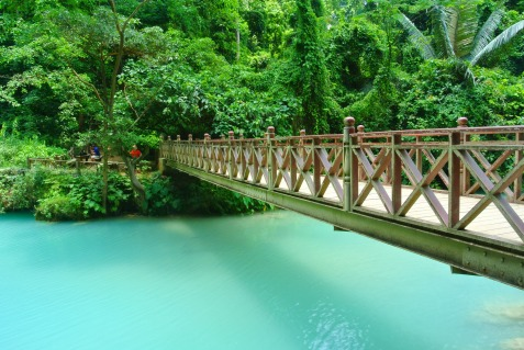 Bridge over blue water