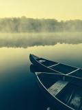 Two Boats on Misty Lake (Unsplash)