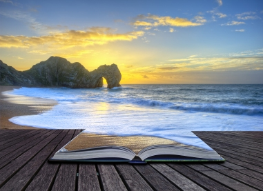 book-on-beach-shutterstock